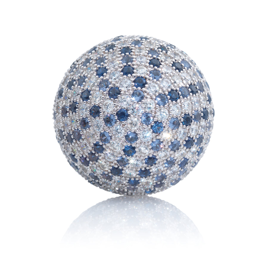 Polaris Silver Blue Flame - 20mm - Sparkling Jewels