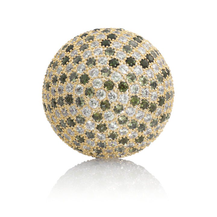Polaris Gold Green Flame - 14mm - Sparkling Jewels