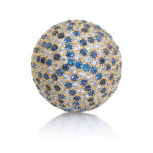 Polaris Gold Blue Flame - 20mm - Sparkling Jewels