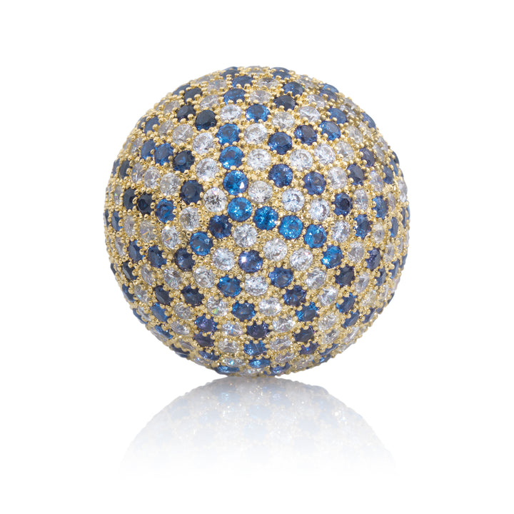 Polaris Gold Blue Flame - 14mm - Sparkling Jewels