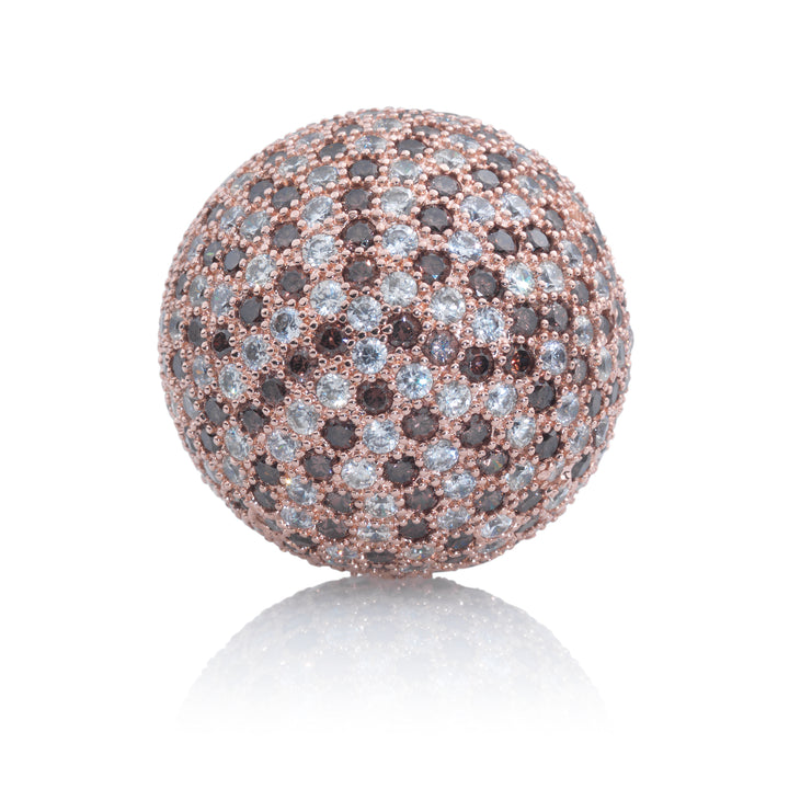 Polaris Rose Gold Brown Flame - 14mm - Sparkling Jewels