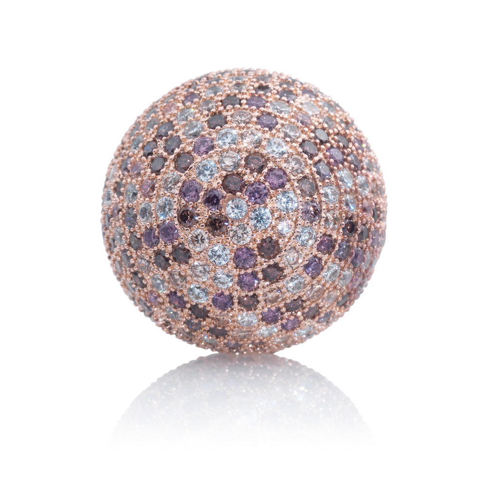Polaris Rosegoud Purple Flame - 14mm - Sparkling Jewels