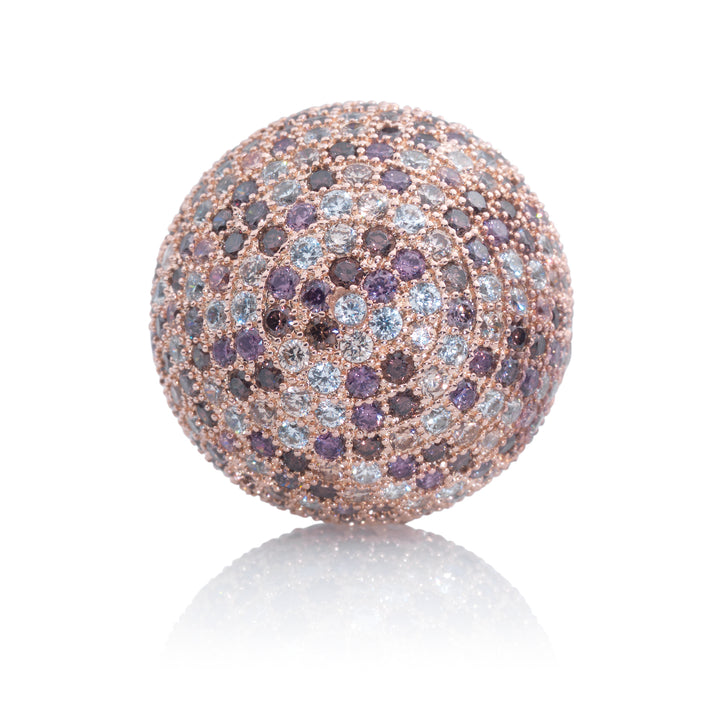 Polaris Rose Gold Purple Flame - 14mm - Sparkling Jewels