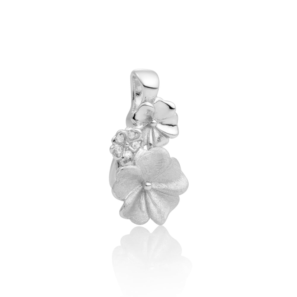 Pendant - Blossom Crystal Zilver