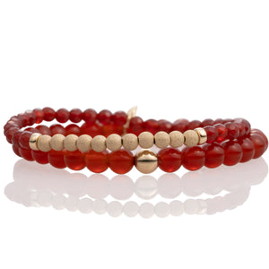 Red Agate bracelet set