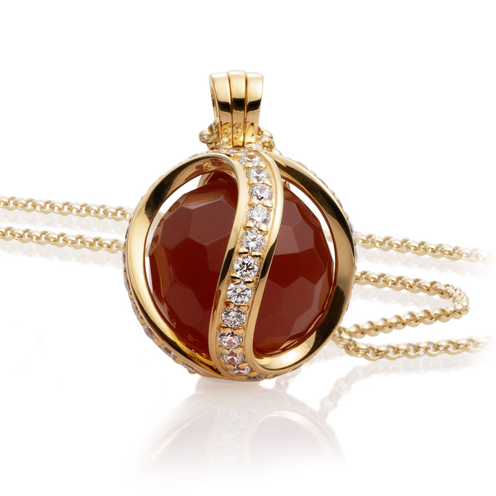 Red Agate pendant set