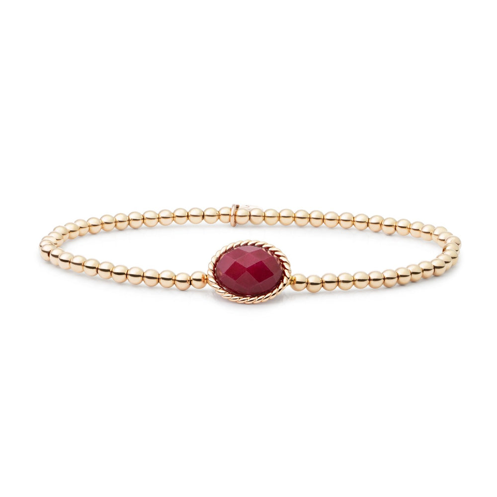 Red Jade Twist Armband