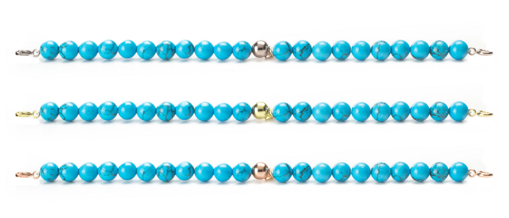 Turkenite Orbit Bracelets with clasps - 6MM - Sparkling Jewels