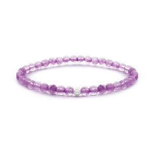 Amethist Gemstone Bracelet 4MM