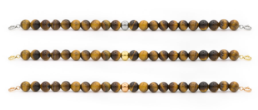 Tiger Eye Orbit Bracelets with clasps - 6MM - Sparkling Jewels