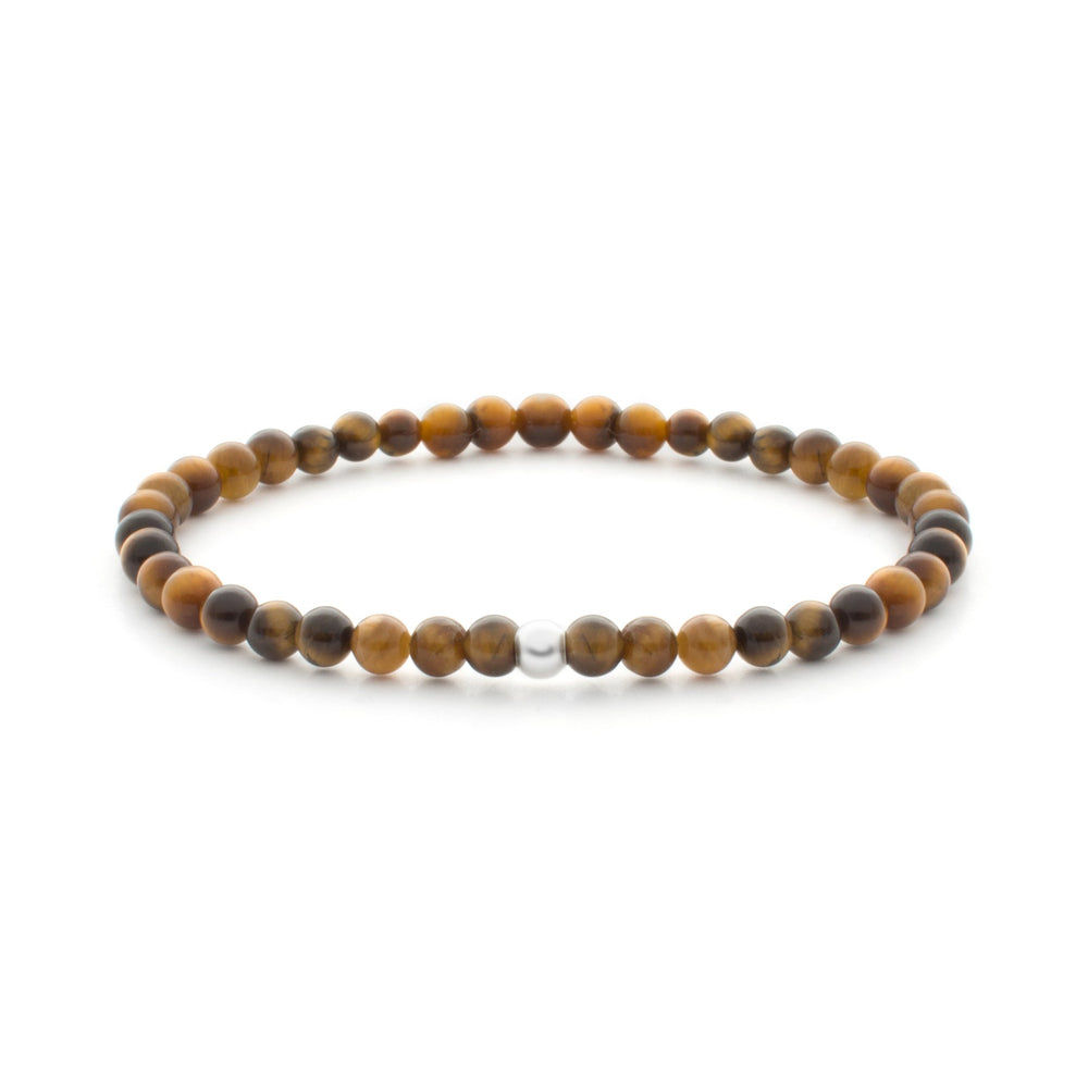 Tiger Eye Saturn Small 4MM - Sparkling Jewels
