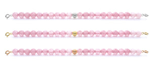 Rose Quartz Orbit Bracelets with clasps - 6MM - Sparkling Jewels