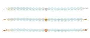 Opalite Orbit Bracelet with Clasps - 6MM - Sparkling Jewels