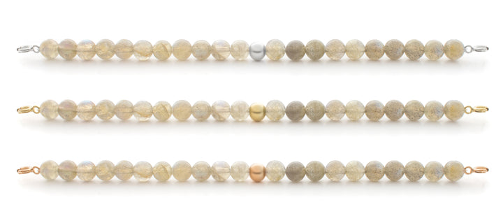 Labradorite Orbit Bracelet with Clasps - 6MM - Sparkling Jewels