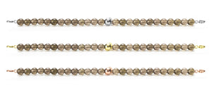 Smokey Quartz Orbit Bracelets with clasps - 6MM - Sparkling Jewels