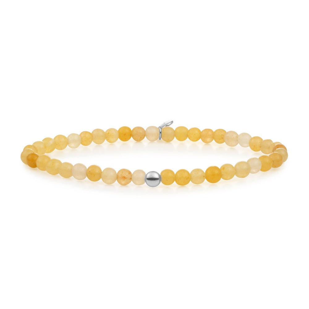 Yellow Jade Saturn small armband
