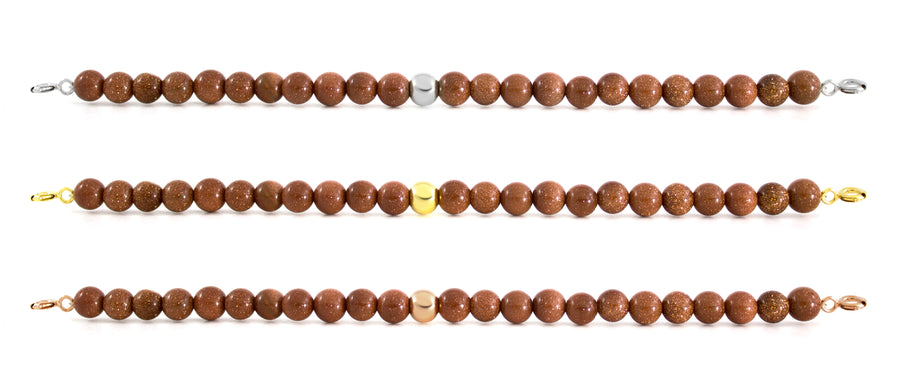 Goldstone Brown Bracelet with Clasps