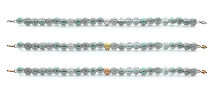 Aqua Aura Green Orbit Bracelet with clasps - 6MM