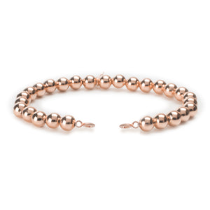 Rose Gold Filled Orbit Bracelets with clasps - 6MM - Sparkling Jewels