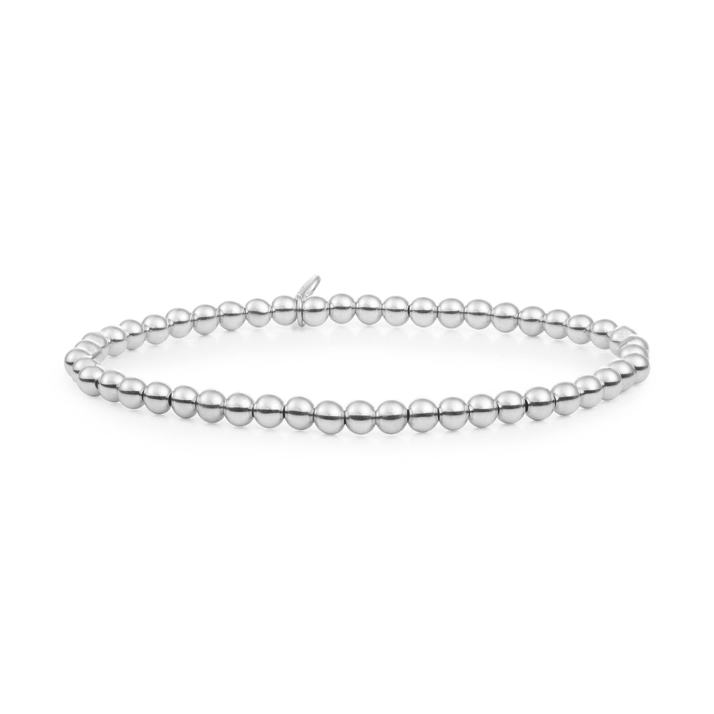 Saturn zilveren armband - 4mm - Sparkling Jewels