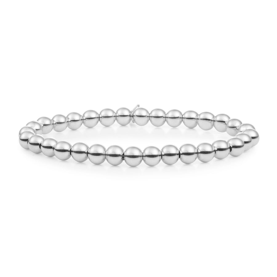 Silver Saturn Large 6MM - Sparkling Jewels