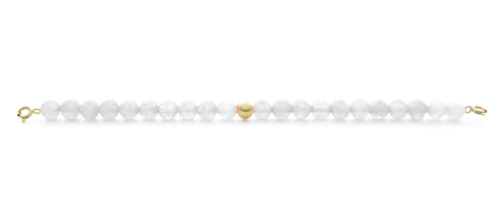Mountain Crystal Orbit Bracelet with Clasps - 6MM - Sparkling Jewels