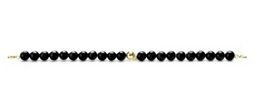 Onyx Orbit Bracelet with Clasps - 6MM - Sparkling Jewels