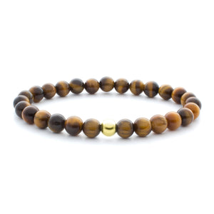 Tiger Eye Saturn Large 6MM - Sparkling Jewels