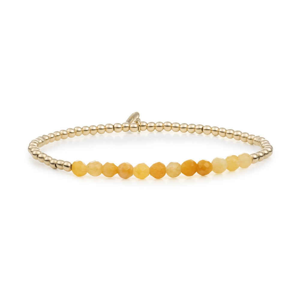 Armbanden stack - Yellow Jade II