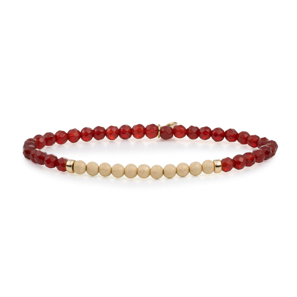 Red Agate armbanden stack