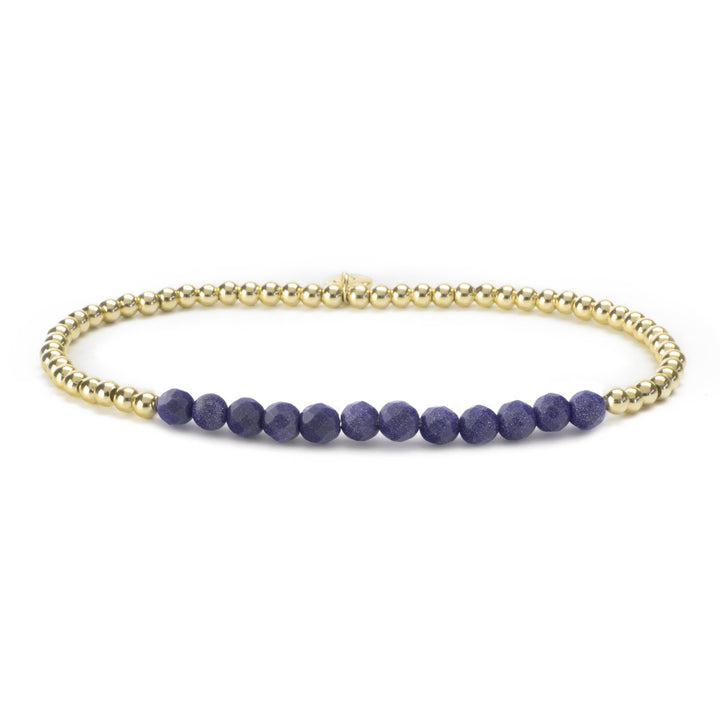 Gold Filled/Blue Goldstone Bracelet