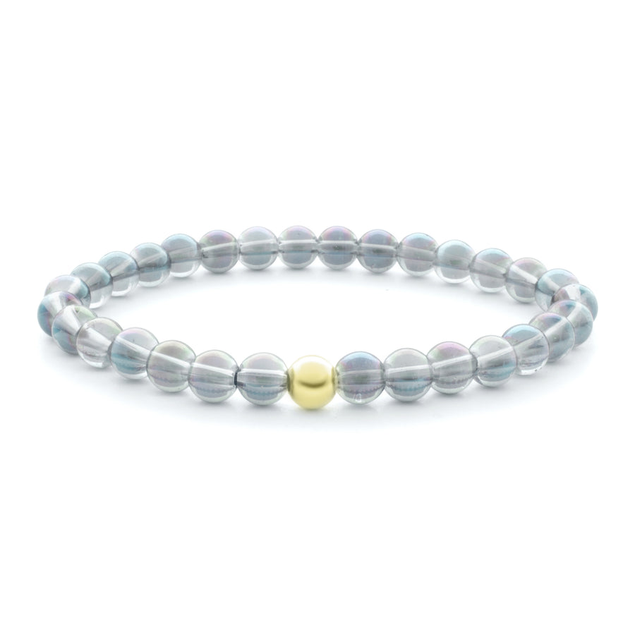 Aqua Aura White Saturn Large 6MM