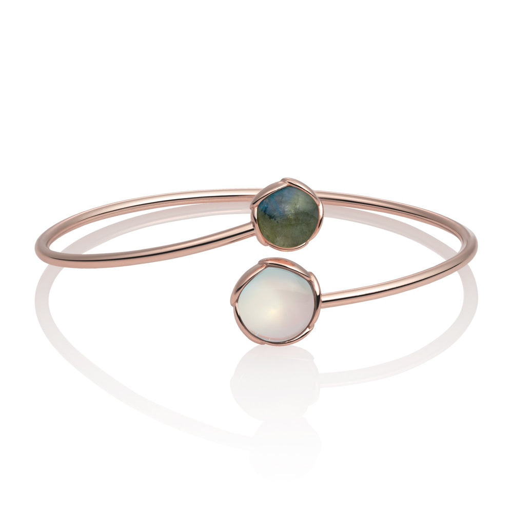 Blossom Bangle - Opalite & Labradorite