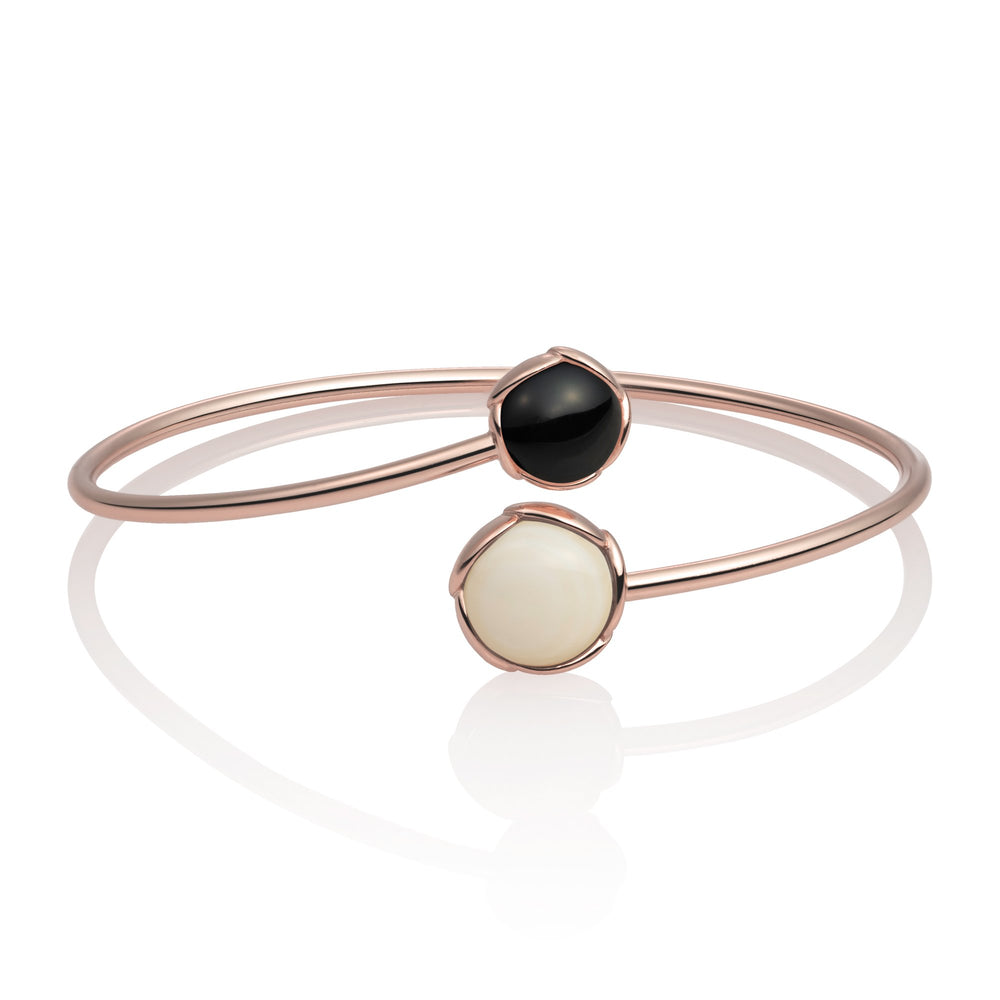 Blossom Bangle - Mother of Pearl & Onyx