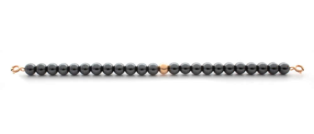 Hematite Orbit Bracelet with Clasps - 6MM - Sparkling Jewels