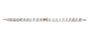 Howlite Orbit Bracelet with Clasps - 6MM - Sparkling Jewels