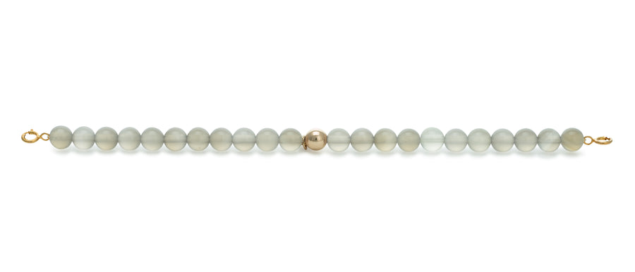 Grey Agate Orbit bracelet with clasps - 6MM - Sparkling Jewels