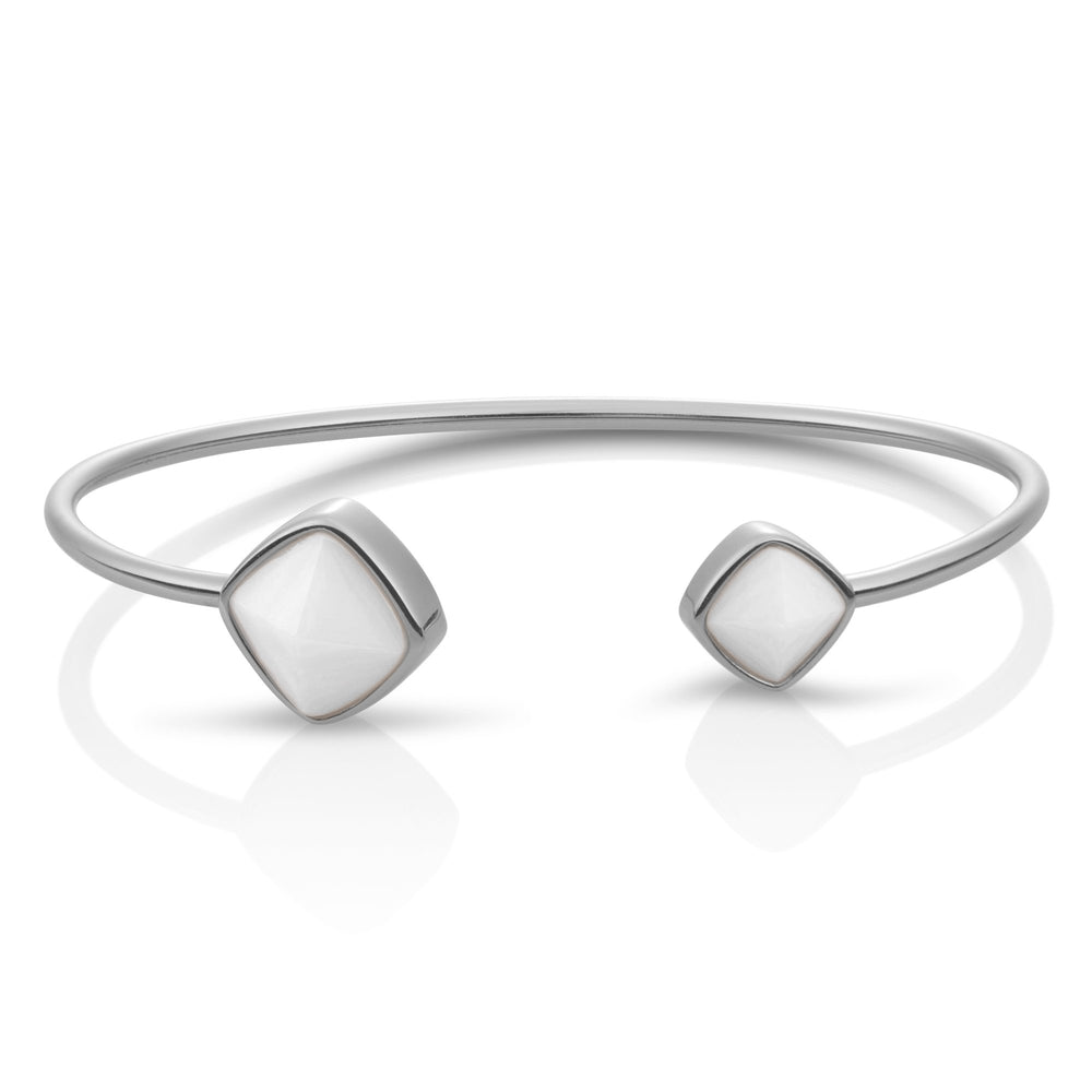 Edge Bangle - Pearl