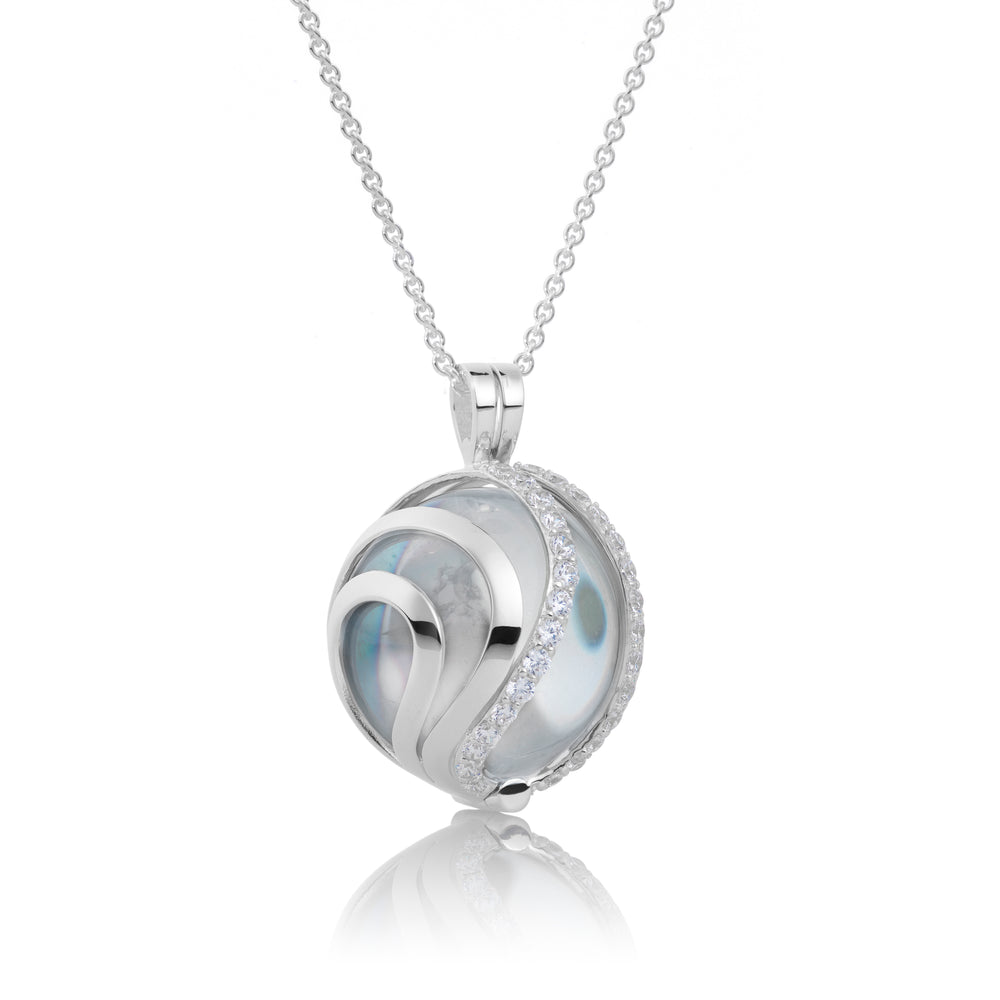 Aurora - Crystal Polished, 14MM pendant - Sparkling Jewels