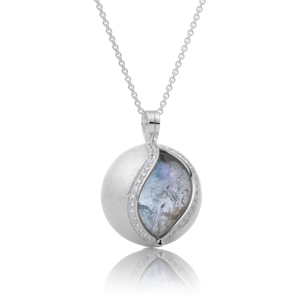 The Core - Crystal Ice Mat, 14MM pendant - Sparkling Jewels