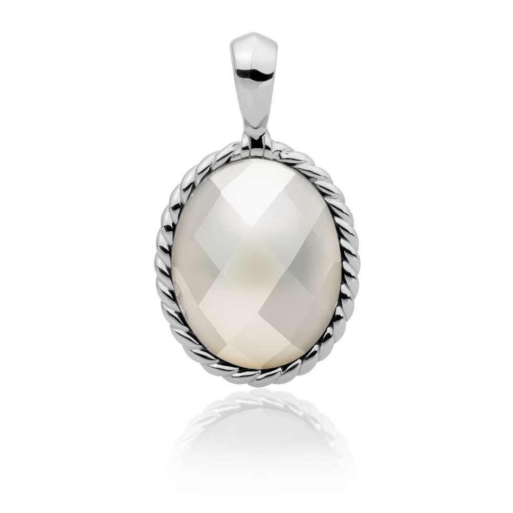 Twist pendant - Mother of Pearl