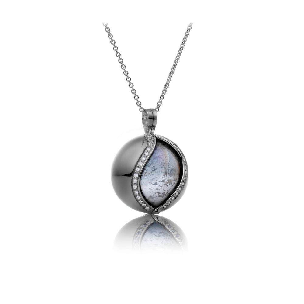 The Core Black - Crystal polished 14mm pendant