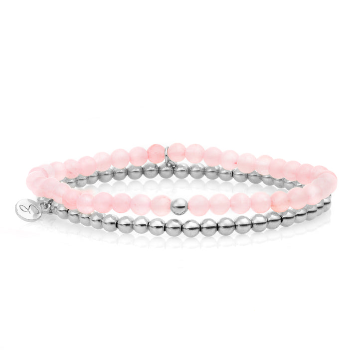 Rose Quartz bracelet set