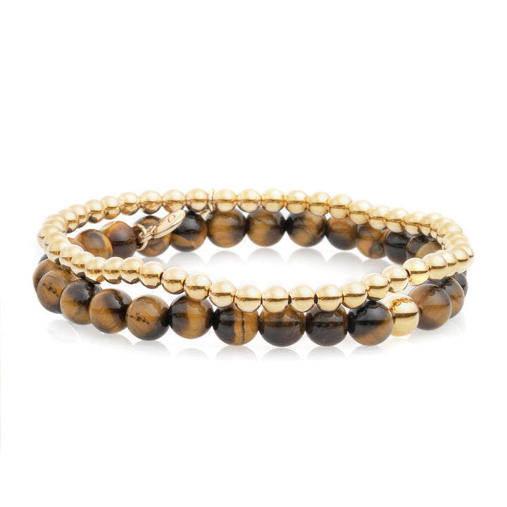 Tiger Eye bracelet stack