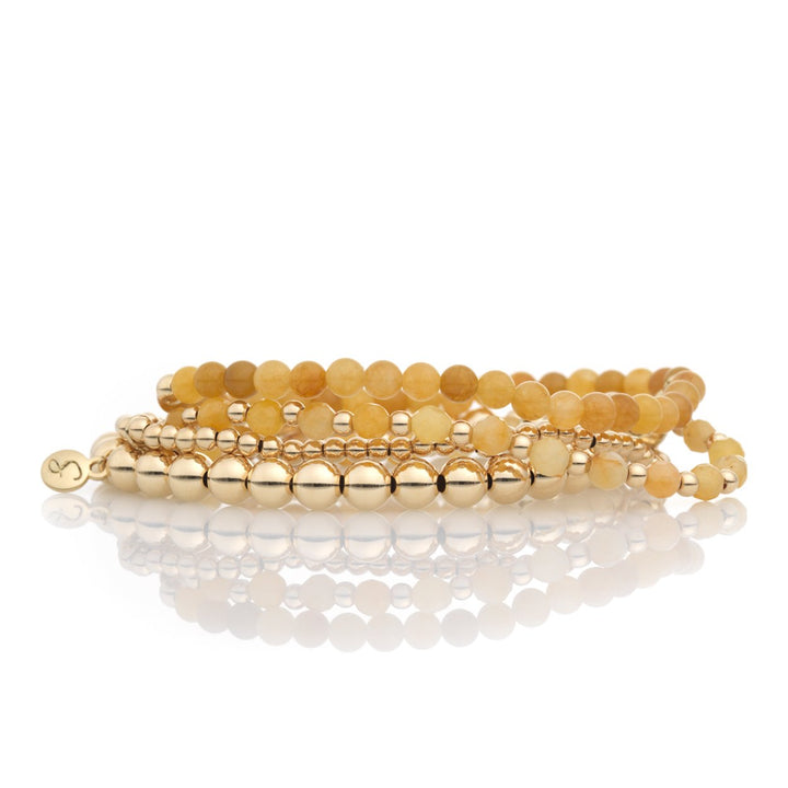 Yellow Jade bracelet set