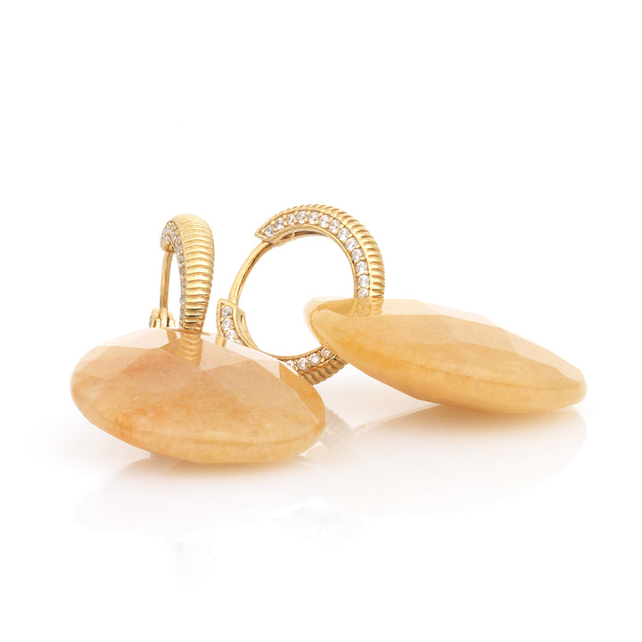Yellow Jade earring set