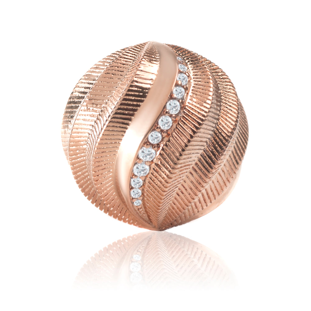 Rose Gold - Swarovski Crystals Twisted ball - 20mm - Sparkling Jewels