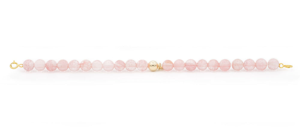 Cherry Quartz Orbit bracelet with clasps - 6MM - Sparkling Jewels