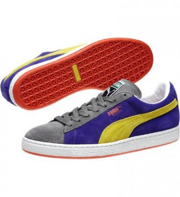 low priced 7d308 d2b59 Puma, 352634-68, Suede Classic +, Blue/Yellow/Quiet Shade