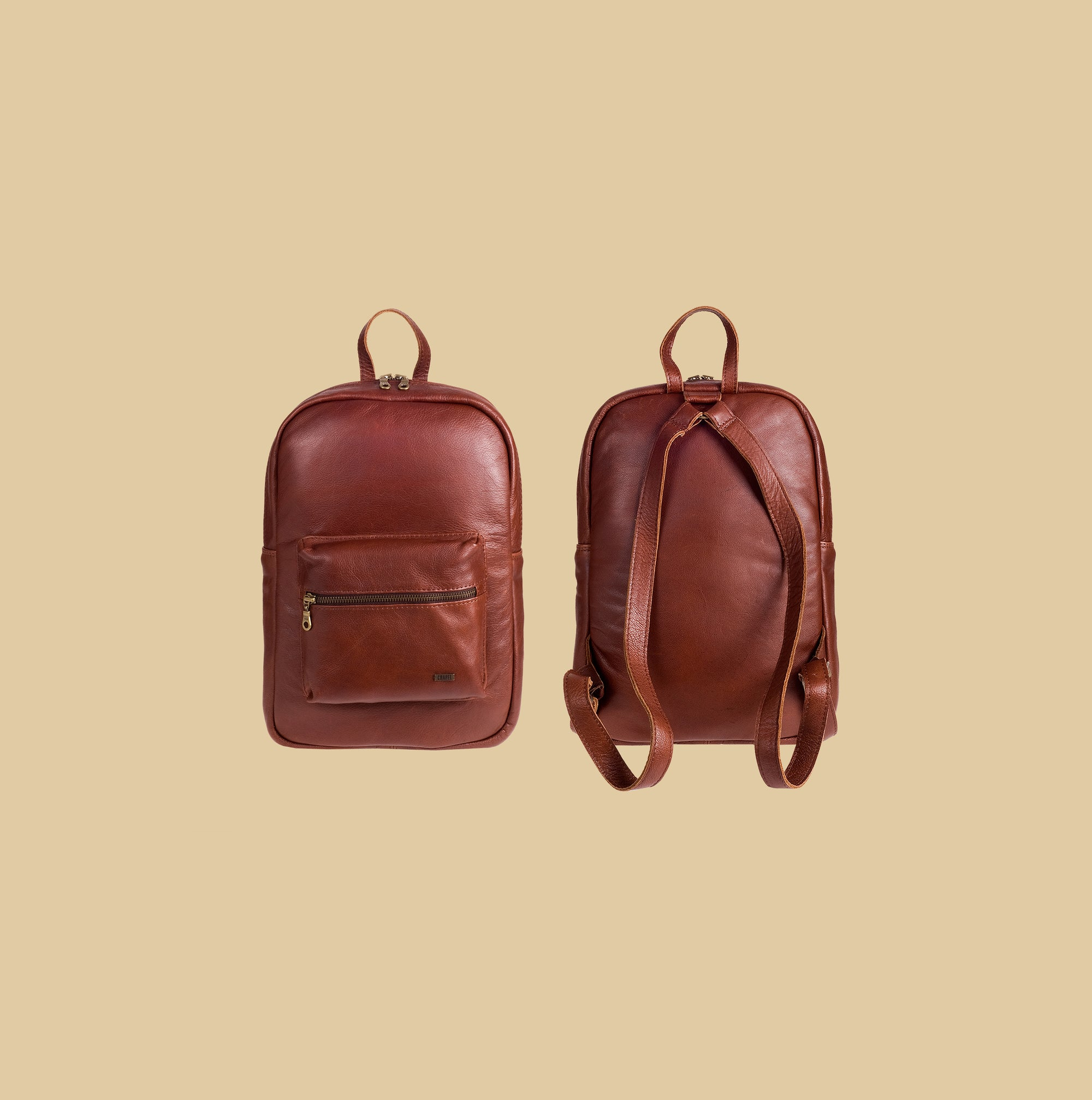 "Leather Genuine Mini Backpack 13"" laptop"
